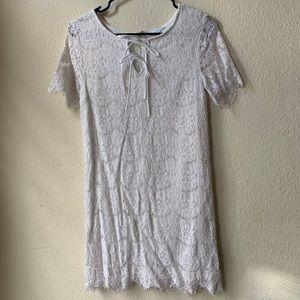 Love Riche White Lace Mini Dress